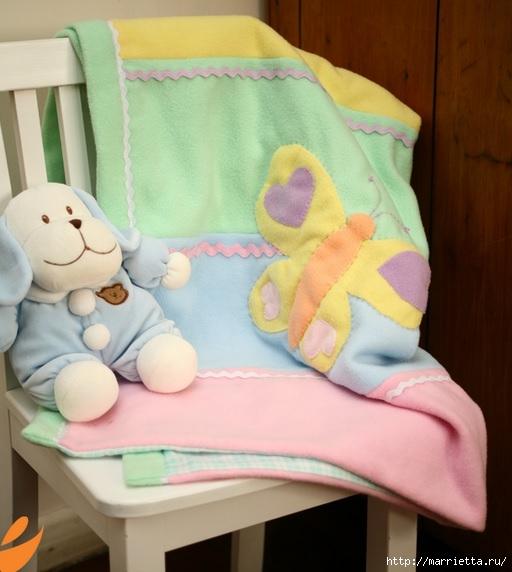 Одеяло с бабочками для детской кроватки. Шьем сами (4) (512x572, 140Kb)