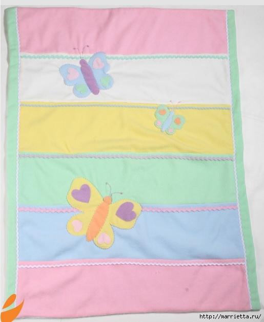 Одеяло с бабочками для детской кроватки. Шьем сами (3) (515x626, 129Kb)