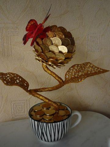 Сделать денежное дерево фото