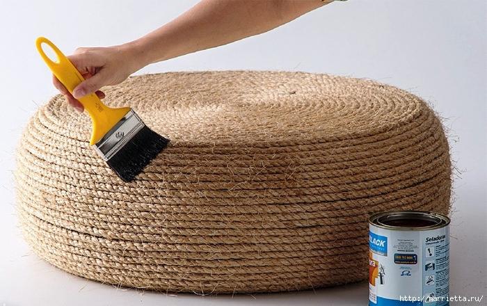 Otomano, jardineras para flores y eco-silla suave del neumático (9) (700x440, 292Kb)