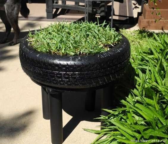 Otomano, jardineras para flores y eco-silla suave del neumático (12) (565x484, 159Kb)