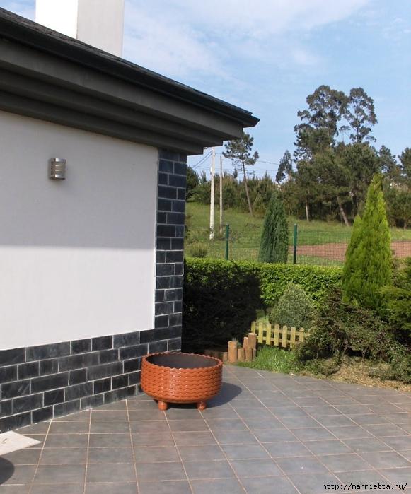 Otomano, jardineras para flores y eco-silla suave del neumático (21) (581x700, 296KB)