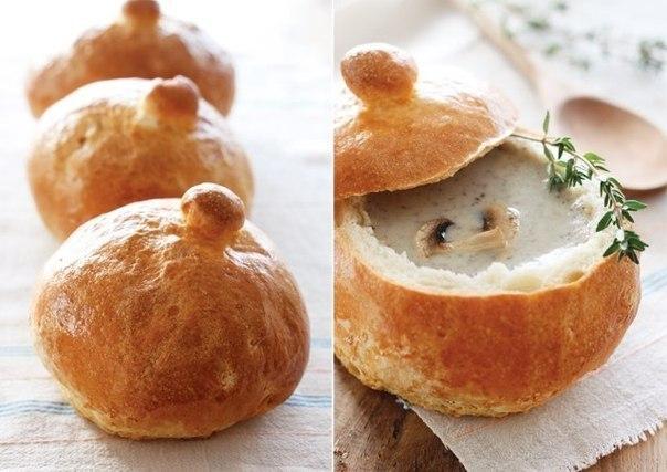 Грибной крем-суп в хлебе (604x427, 56Kb)