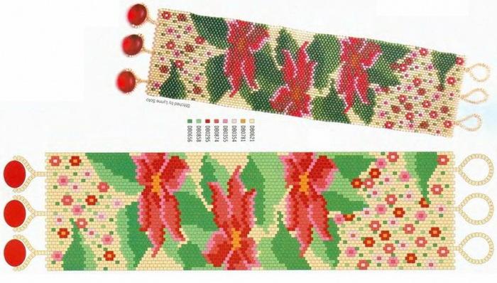 Бисероплетение ручным ткачеством