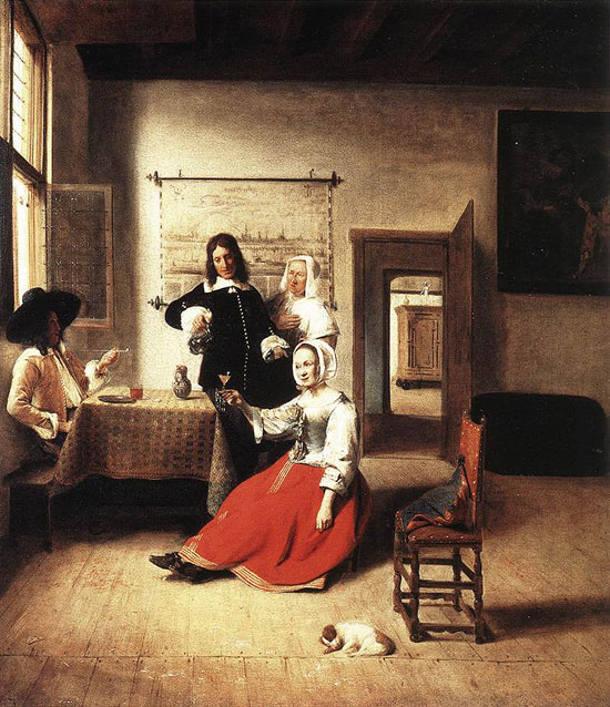 Young-Woman-Drinking-with-Two-Man-1658 (550x638, 115Kb)
