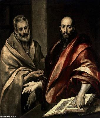 Св. Петра и Павла, масло по холсту по El Greco (Domйnikos (340x400, 70Kb)