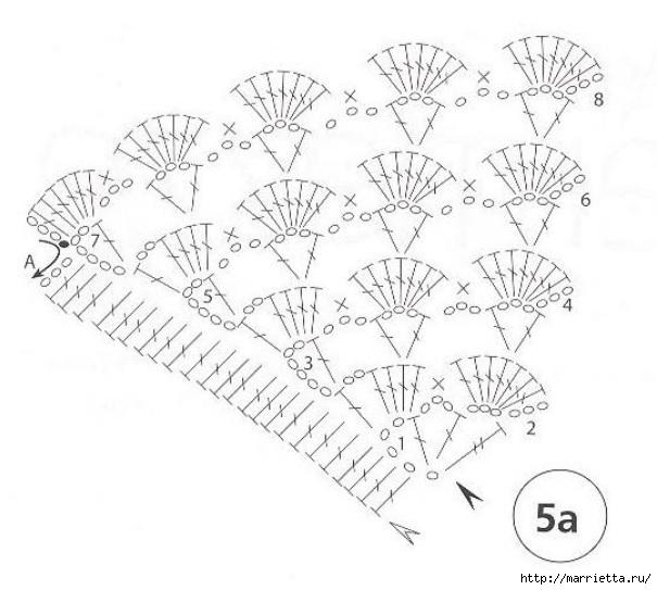 Conducir servilletas ganchillo de vinculación para la mesa (1) (605x543, 138Kb)