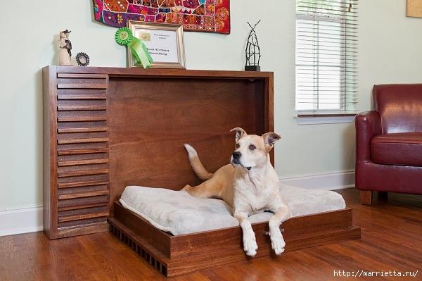 Эргономичная кровать для собаки (5) (600x399, 162Kb)