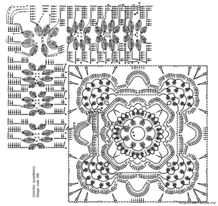 Вязание крючком. Стильные идеи и схемы для уюта в доме (32) (700x660, 415Kb)