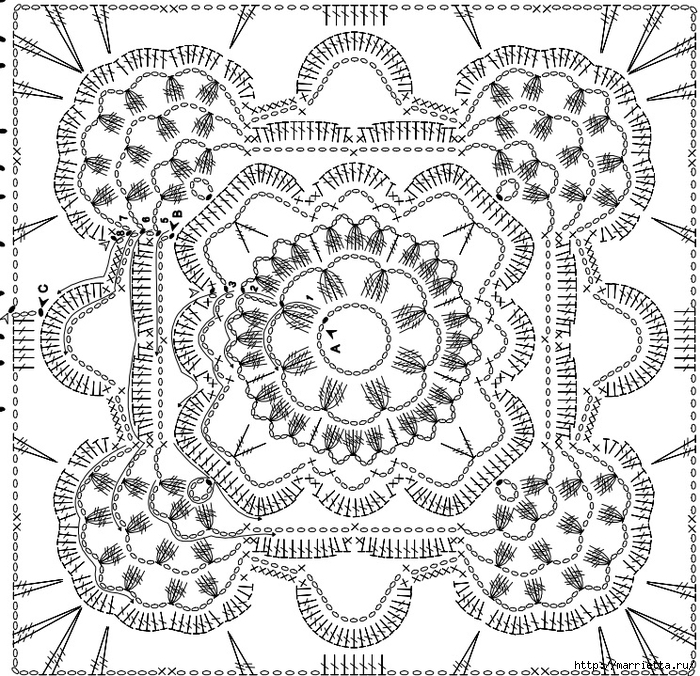 Вязание крючком. Стильные идеи и схемы для уюта в доме (33) (700x676, 480Kb)