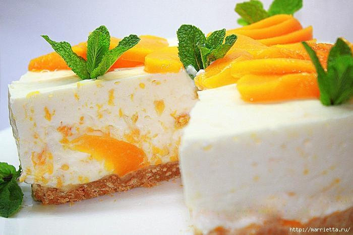 Рецепты чизкейка - апельсиновый и персиковый (3) (700x467, 154Kb)