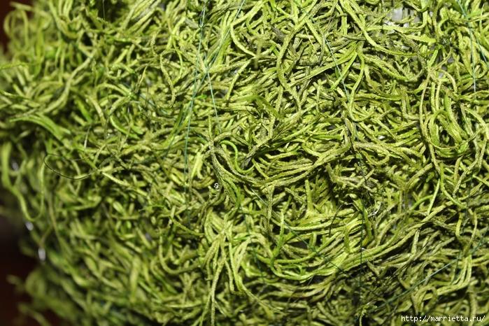 Декоративный искусственный мох для топиария. Мастер-класс (8) (700x466, 384Kb)