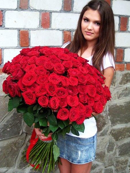 101 роза картинки с девушками