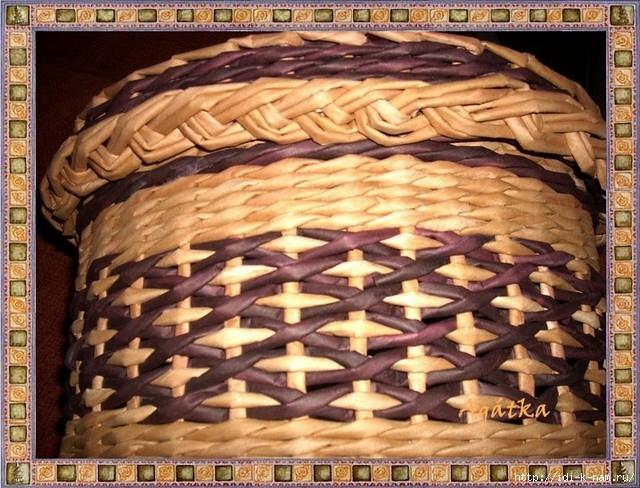 узор для плетения из газетных трубочек, что можно сплести из газетных трубочек, красивая шкатулка из газетных трубочек,