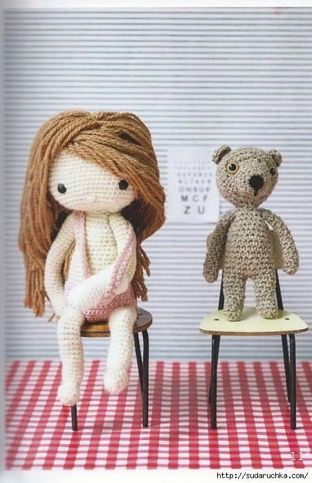 Вязание крючком маленьких куколок