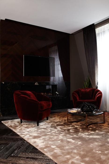 Цвет темного шоколада в дизайне интерьера (2) (466x700, 274Kb)