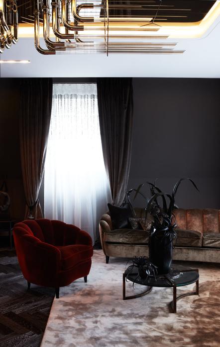 Цвет темного шоколада в дизайне интерьера (4) (442x700, 288Kb)