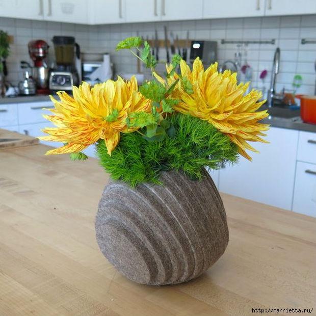 Креативная многослойная ваза из войлока (16) (620x620, 198Kb)