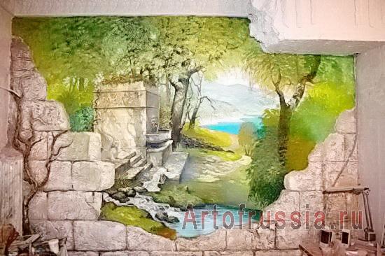 Свет росписи в интерьере станет вашим (4) (550x366, 230Kb)