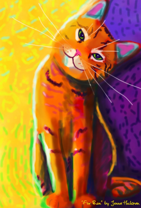 Painted_Cat_in_Ron_Burns_Style_by_JennaHickman (476x700, 460Kb)