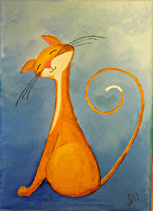 original-cat-painting-for-sale-fantasy-cats-flirty-cat-in-go (507x700, 494Kb)