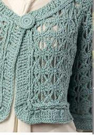 Болеро.Схемы вязания