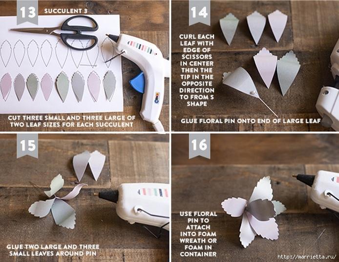 СУККУЛЕНТЫ из текстурной бумаги. Шаблоны для распечатки (11) (694x536, 253Kb)