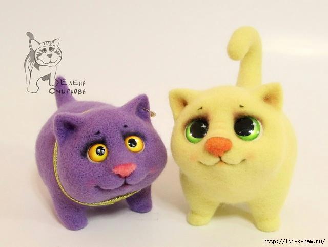 котенок из войлока, войлочный котенок, котенок из шерсти, как свалять котенка, мастер-класс по валянию котенка, валяем котенка,