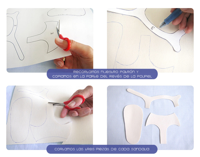 Как сшить босоножки для ребенка 10
