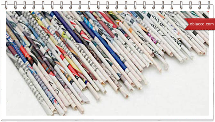 Ажурное плетение из газетных трубочек. МК