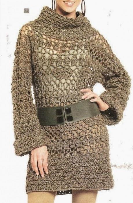 Платья.Схемы вязания