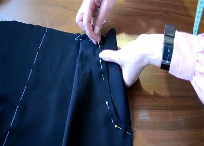 Как сшить карман на платье видео