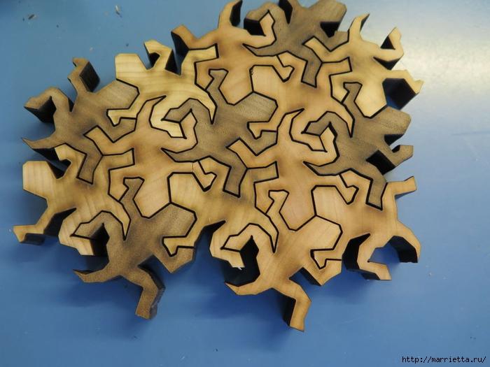 Пазлы Пенроуза. Ящерка из шестиугольника (7) (700x525, 251Kb)