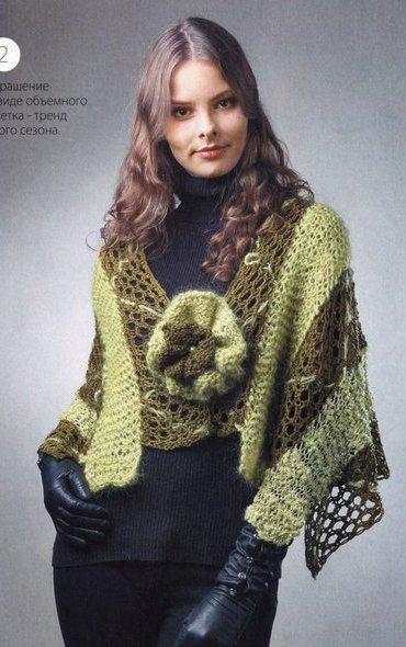 Вязание модно и просто. Спецвыпуск № 12 2011 Пончо, шали, палантины_001 (370x590, 54Kb)