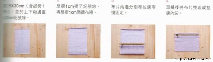 Интересная сумочка и косметичка с цветами из ткани (7) (700x206, 72Kb)