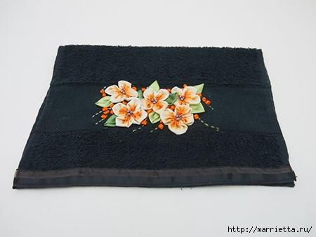 Как украсить полотенце вышивкой лентами. 4 мастер-класса (33) (450x338, 75Kb)