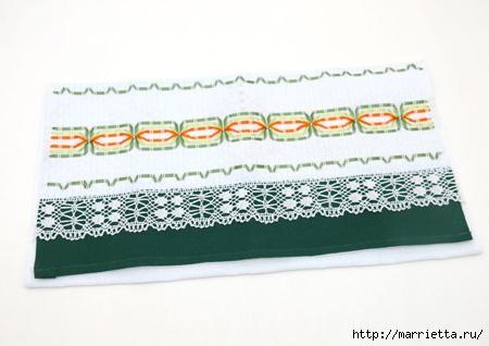 Как украсить полотенце вышивкой лентами. 4 мастер-класса (35) (450x318, 82Kb)