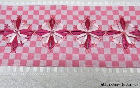 Как украсить полотенце вышивкой лентами. 4 мастер-класса (39) (450x284, 135Kb)