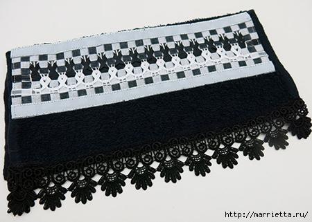 Как украсить полотенце вышивкой лентами. 4 мастер-класса (41) (450x321, 115Kb)