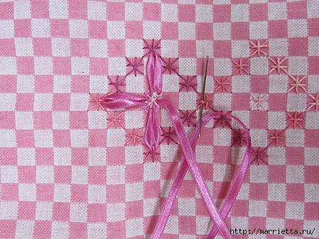 Как украсить полотенце вышивкой лентами. 4 мастер-класса (62) (450x338, 170Kb)