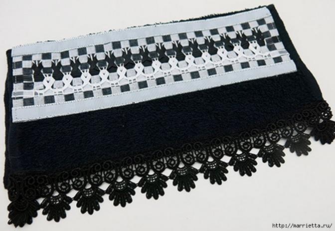 вышивка лентами на полотенце (2) (672x463, 170Kb)