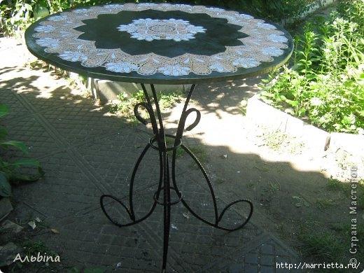 Декорирование круглого столика виниловыми салфетками (5) (520x390, 153Kb)