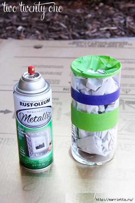 Декорирование стеклянных ваз аэрозольной краской металлик (3) (433x650, 231Kb)