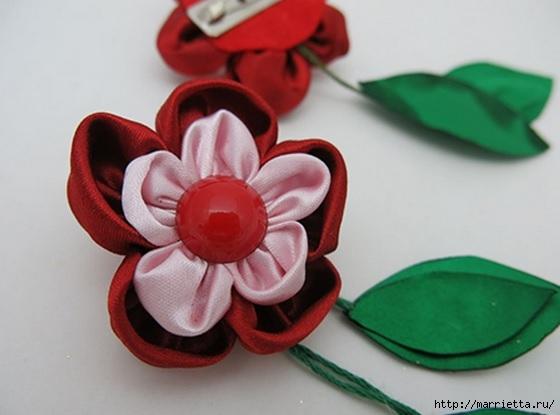 Цветы из ткани для создания брошки (2) (560x415, 103Kb)