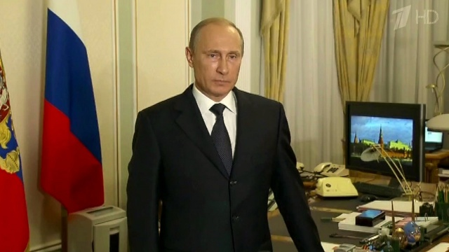 В.Путин  ночью  21 июля  выступил с обращением по поводу событий вокруг Боинга (640x360, 66Kb)