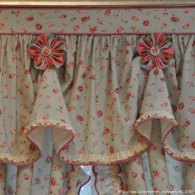 Шьем штору для кухни своими руками 377