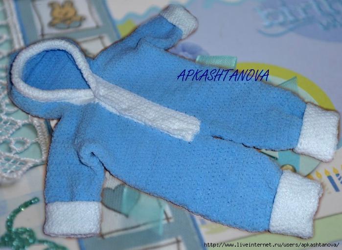 Комбинезон для новорожденного спицами от 0 до 3 месяцев: схема вязания