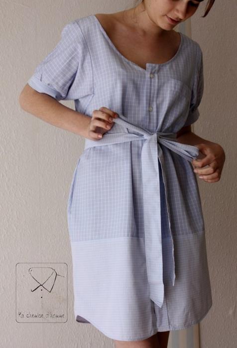 Сшить платье-рубашку женскую