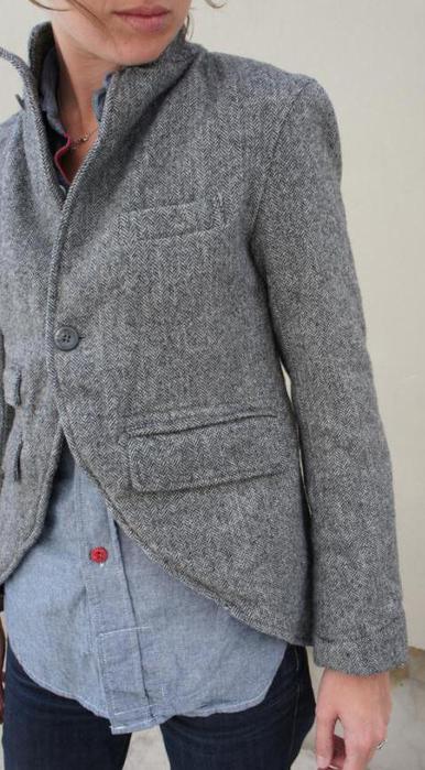 Как сделать пиджак из кожаной куртки