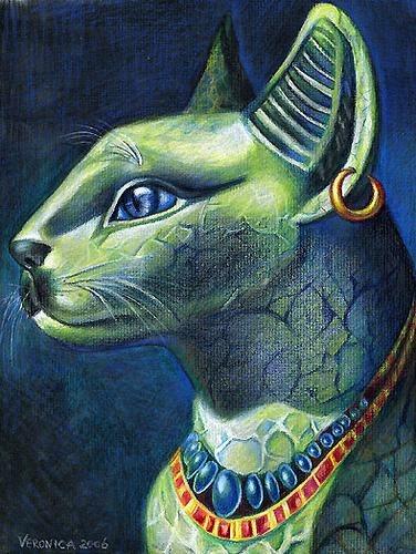 Древнеегипетская кошка (376x500, 66Kb)